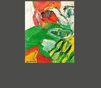 Homme d'hiver, huile sur toile 85 x 61cm