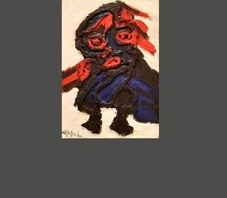 Le petit bonhomme (1985) huile sur panneau 64 x 45 cm
