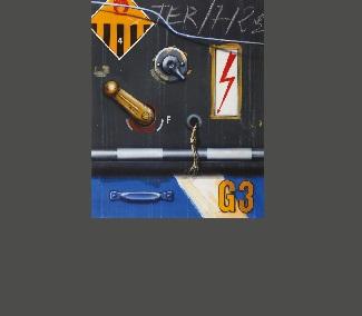 Manette G3,1987, huile sur toile 75 x 64 cm