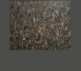 Texture, 80 x 100 huile et pastel sur toile, signée et datée 1988